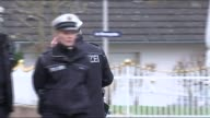 Germanwings plane crash copilot 'deliberately crashed aircraft' Montabaur Various of police officers outside Andreas Lubitz home