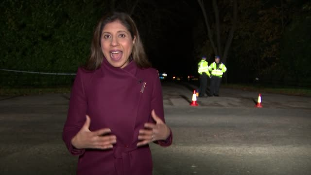 Midair collision between a helicopter and plane in Buckinghamshire Upper Winchendon near Waddesdon Manor Reporter to camera