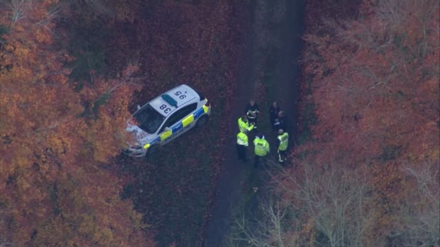 Midair collision between a helicopter and plane in Buckinghamshire Upper Winchendon near Waddesdon Manor VIEWs / AERIALs police officers and...
