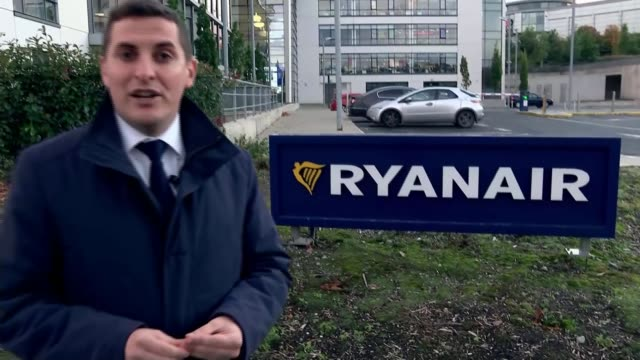 Ryanair make passengers affected by flight cancellations 'fully aware' of rights IRELAND Dublin EXT Reporter to camera
