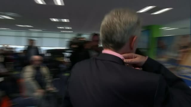 Ryanair pilot tells ITV News flight cancellations could continue in 2018 TX IRELAND Dublin Ryanair HQ INT Various of Michael O'Leary to podium...