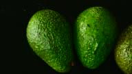 Avocado. Close up. Top view.