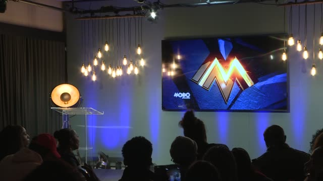 nominations / red carpet interviews King's Cross YouTube Space Various of people arriving for MOBO Award nominations event Intro SOT Kanya King...