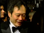 Awards Ceremony Ang Lee interview SOT very happy that I got a chance to film this story / almost too good to be true