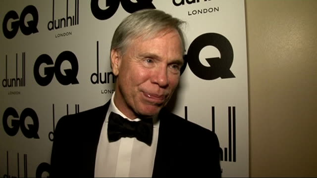 GQ Awards Elba interview SOT doing training for film John Legend chatting to press backstage Tommy Hilfiger interview backstage after winning award...
