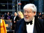 red carpet arrivals ENGLAND London Royal Opera House EXT / NIGHT Richard Griffiths interview as arriving SOT discusses nomination for The History Boys