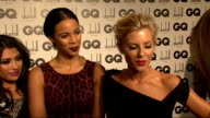 GQ Awards The Saturdays Mollie King Una Healy Rochelle Wiseman Frankie Sandford and Vanessa White interview SOT On where their boyfriends are New...
