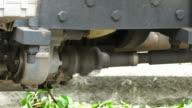 axle under the car