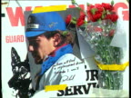 Ayrton Senna death Safety review ENGLAND Sussex Gatwick Airport MS Members of WilliamsRenault motor racing team along with luggage as arrive home...