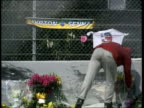 Ayrton Senna death Safety review ITALY Imola LMS Journalists and photographers stand around at track where San Marino Grand Prix ran yesterday in...