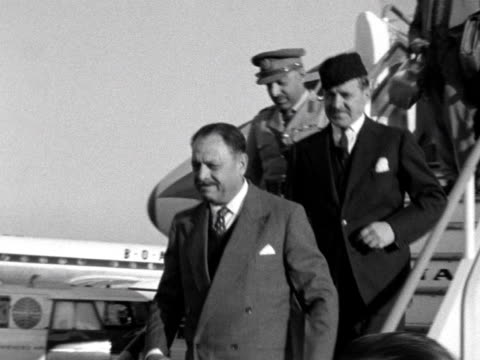 Ayub Khan the Prime Minister of Pakistan arrives at London Airport for the Commonwealth's Premiers Conference