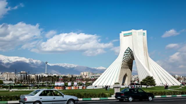 Azadi square and Milad Tower timelapse, Tehran Iran