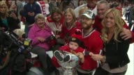 WGN Babies Placed Into The Stanley Cup on the night the Blackhawks won the Stanley Cup on June 15 2015 in Chicago Illinois