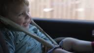 Baby Boy Enjoying a Car Journey