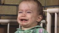 1955 CU Baby girl crying/ USA