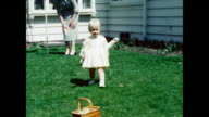 1951 Baby girl with Easter Basket