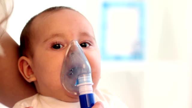 Baby Inhaling Cough Medicine
