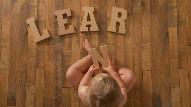 baby Spells 'Learn'