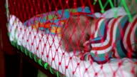 Baby waking up in the crib