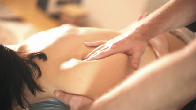 Back massage.