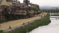 WS PAN Back part of Pontocho alley and Kamo River, Kyoto, Japan
