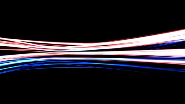 Achtergrondanimatie van vloeiende strepen van licht (Loop)