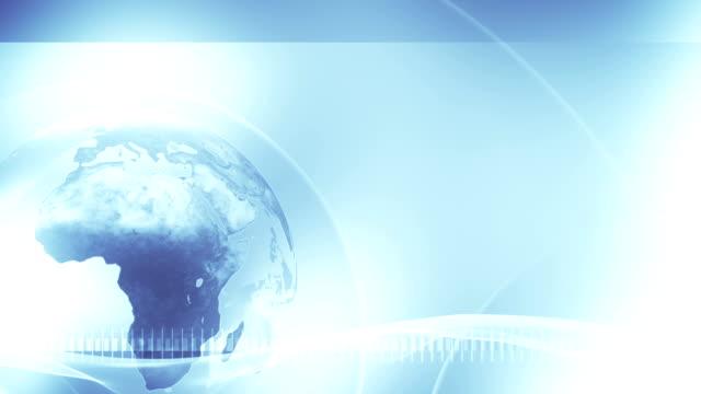 Background Globe (Light Blue, left placed) - Loop