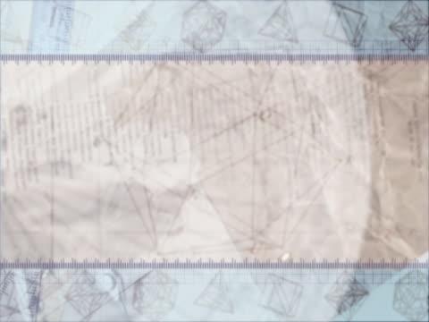 CU CGI Background montage of geometric shapes
