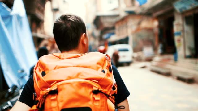 Backpacker on trip