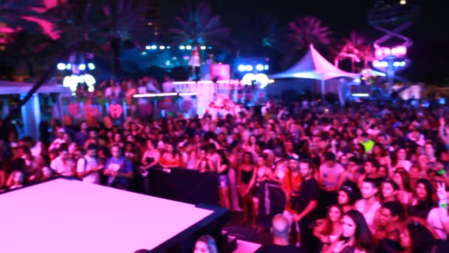 Backstage and performance footage from the IHeartRadio Summer Pool Party at the Fontainebleau Miami Beach on May 21 2016 in Miami Beach Florida