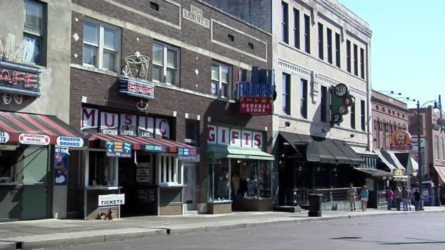 WS PAN Baele Street, Blues Corner, Downtown Memphis, Tennessee, USA