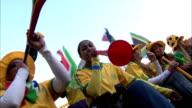 MS PAN Bafana Bafana supporters blowing their vuvuzelas /  Johannesburg, Gauteng, South Africa