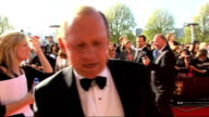 red carpet arrivals ENGLANDLondon South Bank EXT Various unidentified arrivals / Miranda Raison signing autographs Peter Firth interview SOT On...