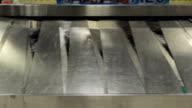 Baggage conveyor belt in the airport