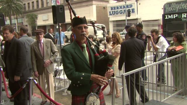 Bagpipe player at the Dediction of James Bacon's Walk of Fame Star at the Hollywood Walk of Fame in Hollywood California on April 6 2007