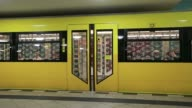 A U Bahn Underground train arrives into Alexanderplatz station in Berlin Germany on Wednesday May 21 An alarm signal is heard as the automatic doors...