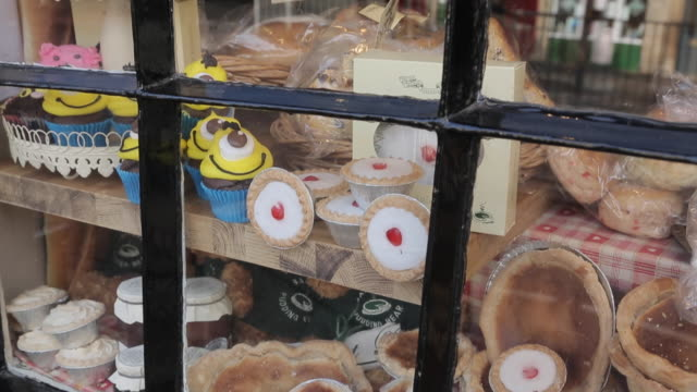 Bakewell Pudding Shop Window, Bakewell, Derbyshire, England, UK, Europe