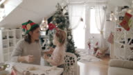 Baking Christmas cookies with my daughter 4K