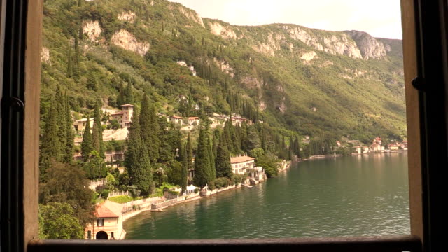 Balcony View in Varenna Lake Como Italy