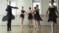 ballerinas in a dance studio