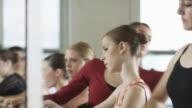 ballerinas warming up
