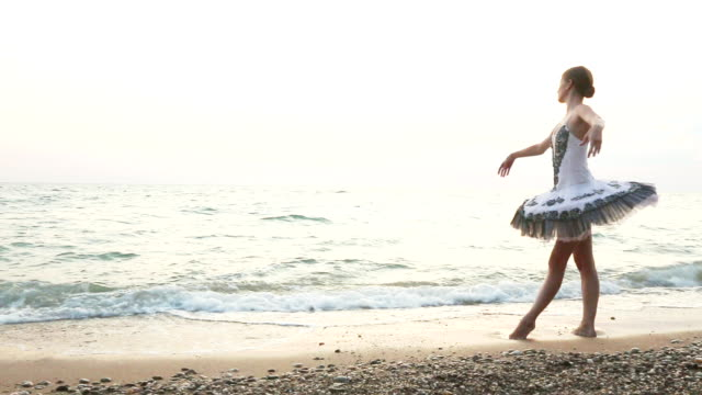 ballet in the evening coast