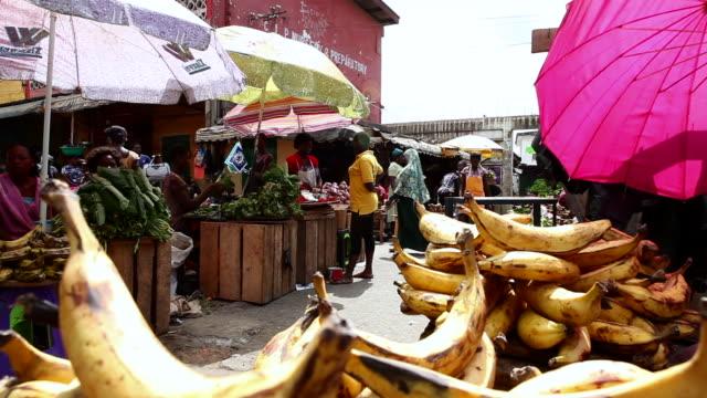 Bananas in a market in Takoradi, Ghana
