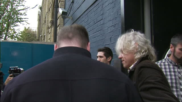 Band Aid 30 Recording Exterior shots of Sir Bob Geldof and Musician Sam Smith outside Sarm Studios in West London on November 15 2014 in London...