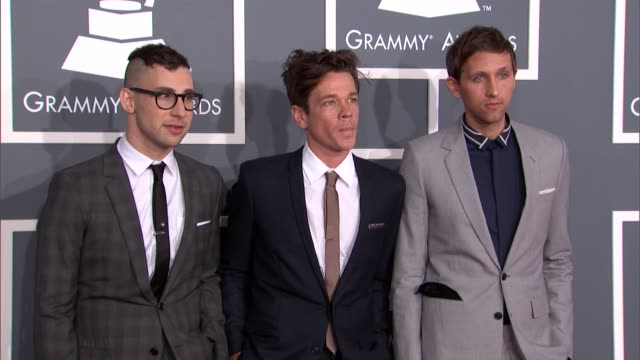 Band FUN Jack Antonoff Nate Ruess Andrew Dost at The 55th Annual GRAMMY Awards Arrivals Band FUN Jack Antonoff Nate Ruess Andrew Dost at Staples...