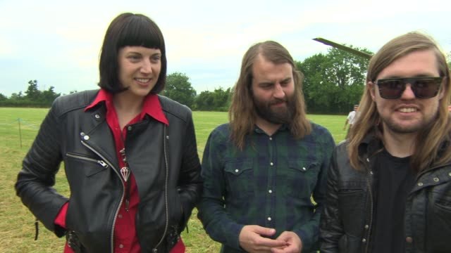 INTERVIEW Band Of Skulls on performing at Glastonbury at Glastonbury Festival Band Of Skulls Interview at Glastonbury Festival Site on June 27 2014...