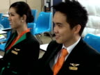 Gaspar RuizCanela Several transsexual air hostesses are preparing to work for a the new lowcost airways 'PC Airline'which begins to operate the...