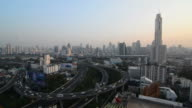 Bangkok city and highway traffic jam
