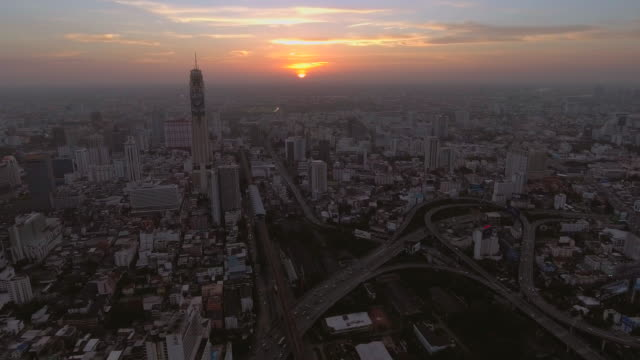 Bangkok city at the sunset