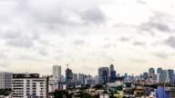 Bangkok city Business District Skyline,time lapse